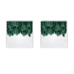 Snow And Tree Cufflinks (square) by jumpercat