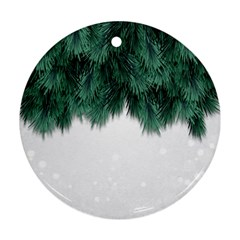 Snow And Tree Round Ornament (two Sides) by jumpercat