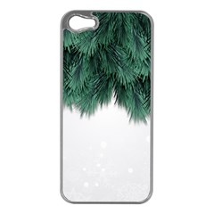 Snow And Tree Apple Iphone 5 Case (silver) by jumpercat