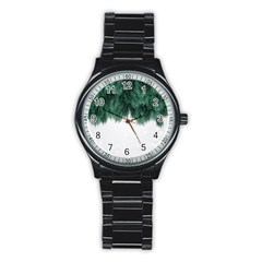 Snow And Tree Stainless Steel Round Watch by jumpercat