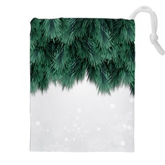 Snow And Tree Drawstring Pouches (xxl)