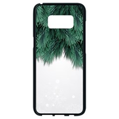 Snow And Tree Samsung Galaxy S8 Black Seamless Case