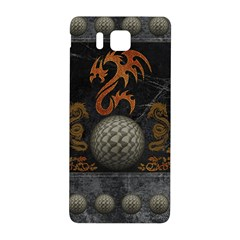 Awesome Tribal Dragon Made Of Metal Samsung Galaxy Alpha Hardshell Back Case by FantasyWorld7