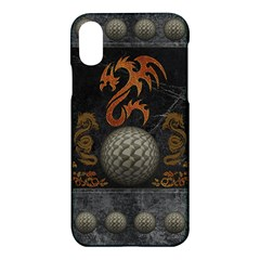 Awesome Tribal Dragon Made Of Metal Apple Iphone X Hardshell Case by FantasyWorld7