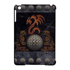 Awesome Tribal Dragon Made Of Metal Apple Ipad Mini Hardshell Case (compatible With Smart Cover) by FantasyWorld7