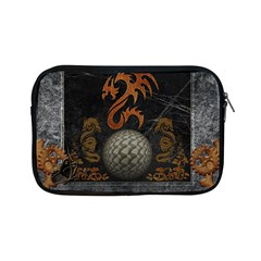 Awesome Tribal Dragon Made Of Metal Apple Ipad Mini Zipper Cases by FantasyWorld7