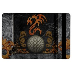 Awesome Tribal Dragon Made Of Metal Ipad Air 2 Flip by FantasyWorld7