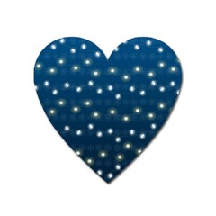 Christmas Light Blue Heart Magnet by jumpercat