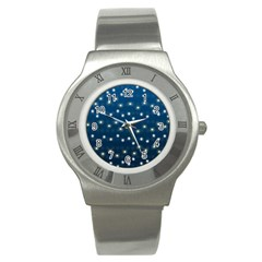 Christmas Light Blue Stainless Steel Watch