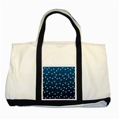 Christmas Light Blue Two Tone Tote Bag by jumpercat