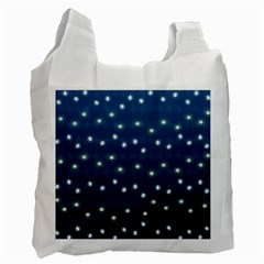 Christmas Light Blue Recycle Bag (two Side)