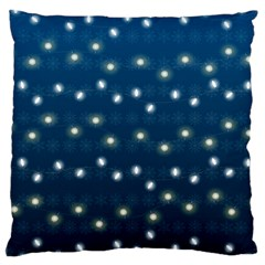 Christmas Light Blue Large Cushion Case (one Side) by jumpercat