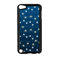 Christmas Light Blue Apple Ipod Touch 5 Case (black)