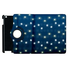 Christmas Light Blue Apple Ipad 2 Flip 360 Case by jumpercat