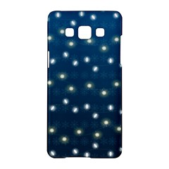 Christmas Light Blue Samsung Galaxy A5 Hardshell Case  by jumpercat