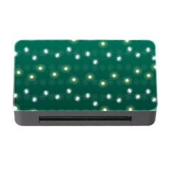 Christmas Light Green Memory Card Reader With Cf by jumpercat