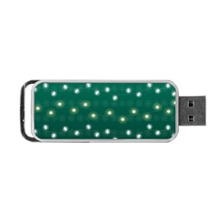 Christmas Light Green Portable Usb Flash (one Side) by jumpercat