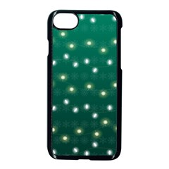 Christmas Light Green Apple Iphone 8 Seamless Case (black)