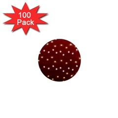 Christmas Light Red 1  Mini Magnets (100 Pack)