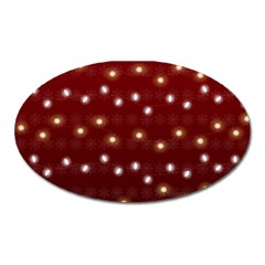 Christmas Light Red Oval Magnet by jumpercat