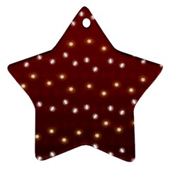 Christmas Light Red Star Ornament (two Sides)
