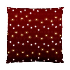 Christmas Light Red Standard Cushion Case (one Side)