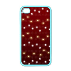 Christmas Light Red Apple Iphone 4 Case (color)