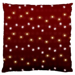 Christmas Light Red Large Cushion Case (two Sides)