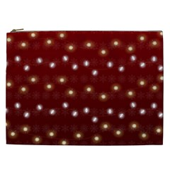 Christmas Light Red Cosmetic Bag (xxl)  by jumpercat