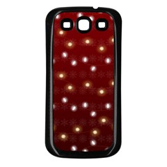 Christmas Light Red Samsung Galaxy S3 Back Case (black)