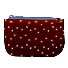 Christmas Light Red Large Coin Purse