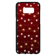 Christmas Light Red Samsung Galaxy S8 Plus Black Seamless Case