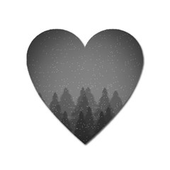 Winter Land Dark Heart Magnet by jumpercat