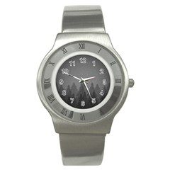 Winter Land Dark Stainless Steel Watch