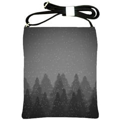Winter Land Dark Shoulder Sling Bags