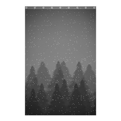 Winter Land Dark Shower Curtain 48  X 72  (small)