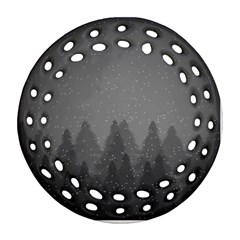 Winter Land Dark Ornament (round Filigree)
