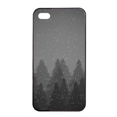 Winter Land Dark Apple Iphone 4/4s Seamless Case (black)