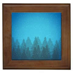 Winter Land Blue Framed Tiles
