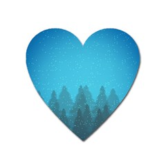 Winter Land Blue Heart Magnet by jumpercat