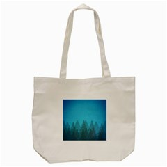 Winter Land Blue Tote Bag (cream)