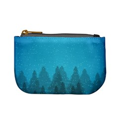 Winter Land Blue Mini Coin Purses