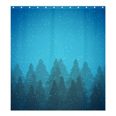 Winter Land Blue Shower Curtain 66  X 72  (large)