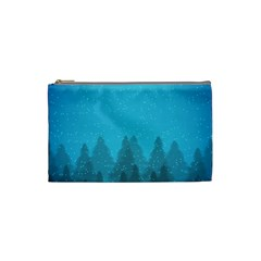 Winter Land Blue Cosmetic Bag (small)