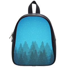 Winter Land Blue School Bag (small)