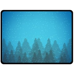 Winter Land Blue Fleece Blanket (large)