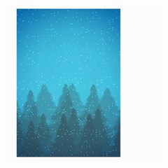 Winter Land Blue Large Garden Flag (two Sides)