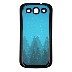 Winter Land Blue Samsung Galaxy S3 Back Case (black)