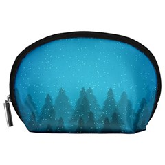 Winter Land Blue Accessory Pouches (large)  by jumpercat