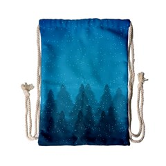Winter Land Blue Drawstring Bag (small) by jumpercat